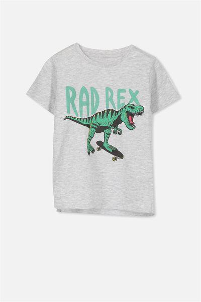 Max Short Sleeve Tee, GREY/RAD REX