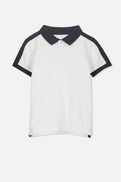 Kenny 3  Polo, WHITE/NAVY PANEL