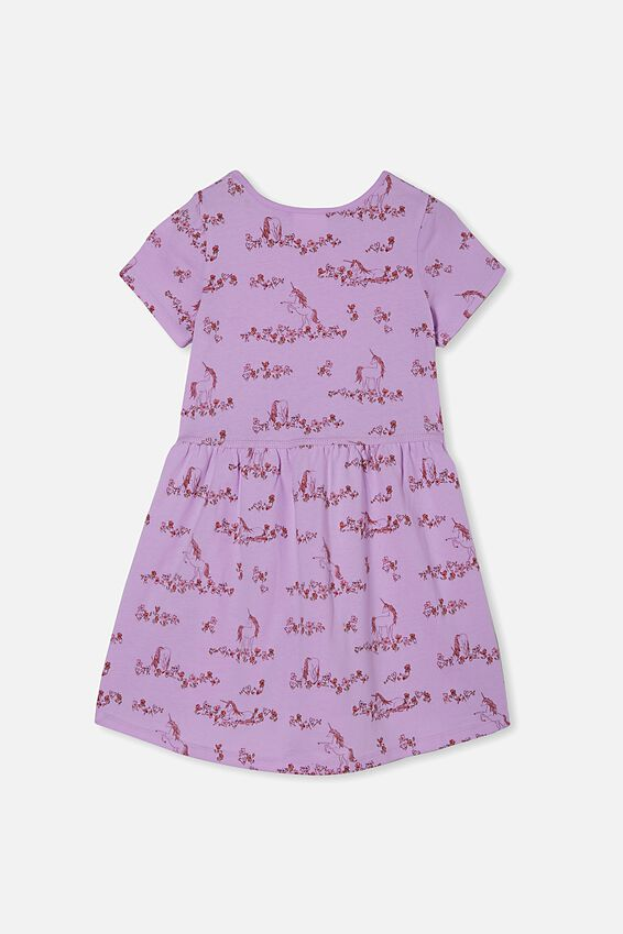 Freya Short Sleeve Dress, PALE VIOLET/CANYON UNICORN MEADOW