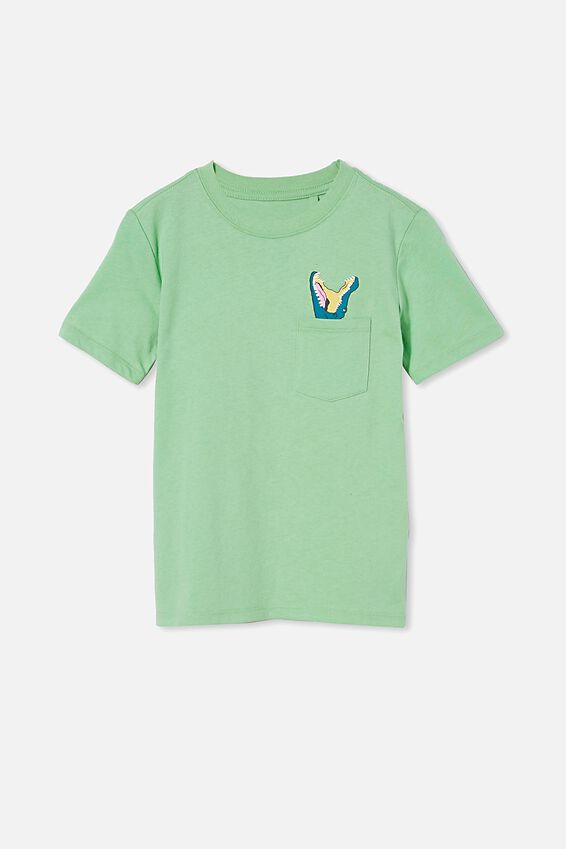 Downtown Short Sleeve Tee, SPEARMINT/CROC