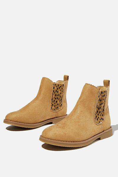 Scallop Gusset Boot, SANDUNE DABBY SPOT