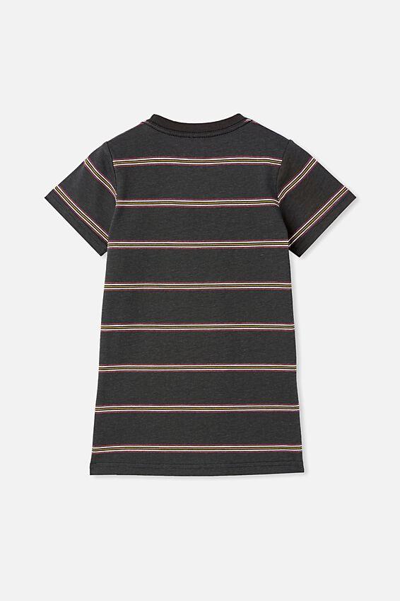 The Cruz Short Sleeve Long Line Tee Stripe, PHANTOM / PROTECT & RESPECT