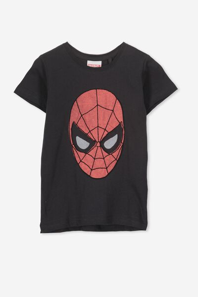 Short Sleeve License Tee, PHANTOM/EMBROIDERED SPIDERMAN