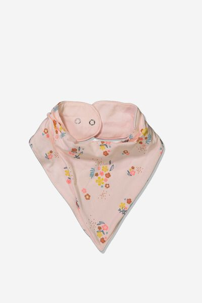 The Kerchief Bib, CRYSTAL PINK/NORA FLORAL