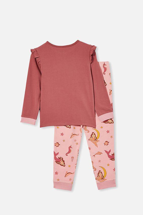 Florence Long Sleeve Pyjama Set, MERMAID OCEAN / VERY BERRY