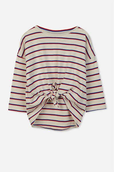 Chloe Ls Top, RETRO STRIPE