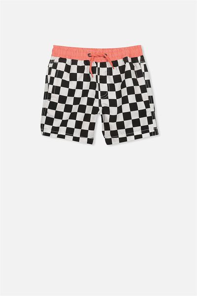 Murphy Swim Short, PHANTOM/VANILLA CHECK
