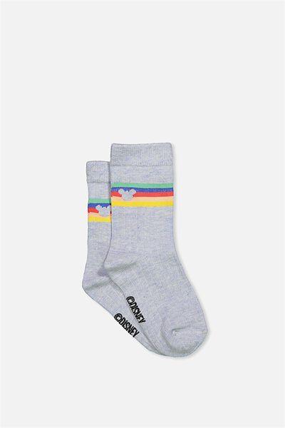 Fashion Kooky Socks, MICKEY RAINBOW