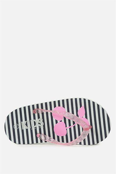 Printed Flip Flop, G GLITTER CHERRY