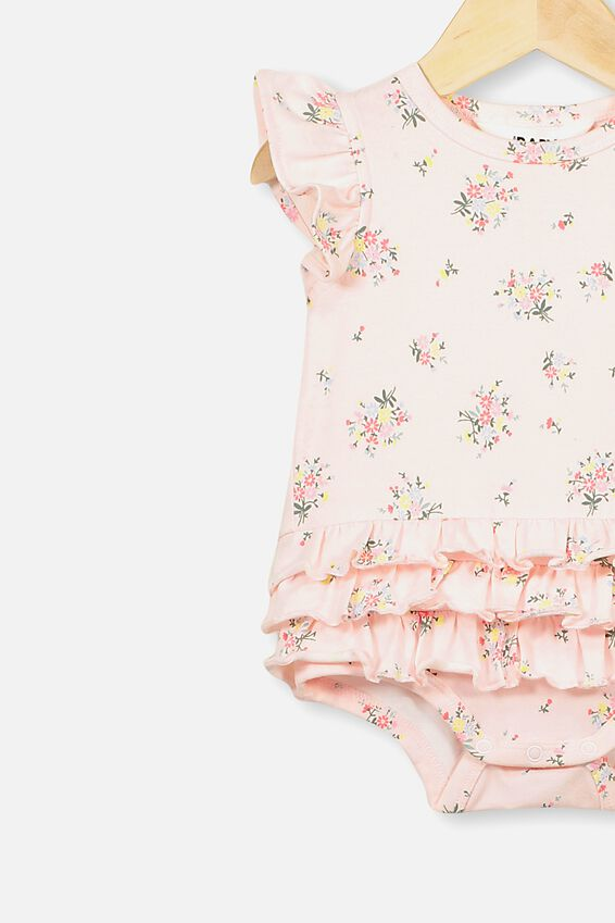 Alice Ruffle Bubbysuit, CRYSTAL PINK/OLIVIA FLORAL