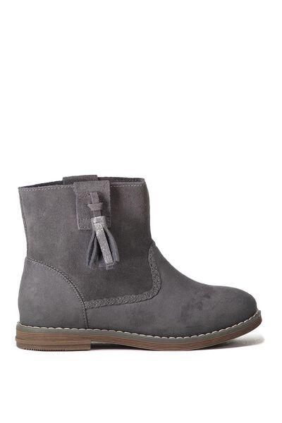 Chloe Slouchy Tassel Boot, SLATE