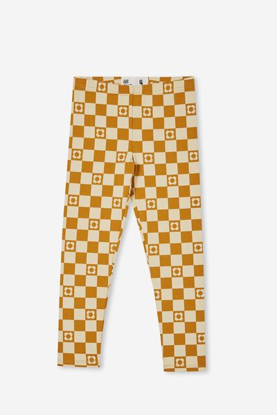 Huggie Tights, TUMMERIC LATTE/COOGEE CHECKERBOARD