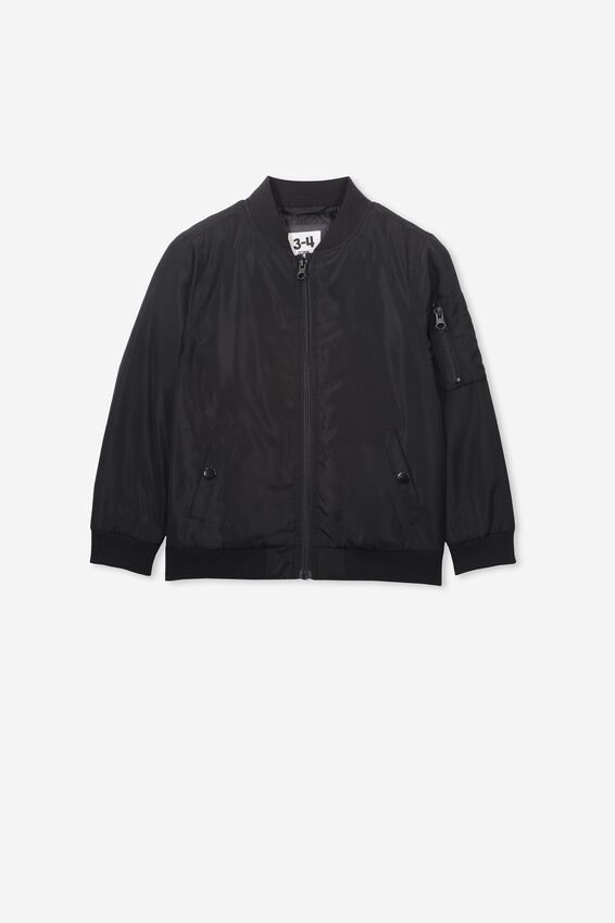 Airforce Bomber Jacket, BLACK