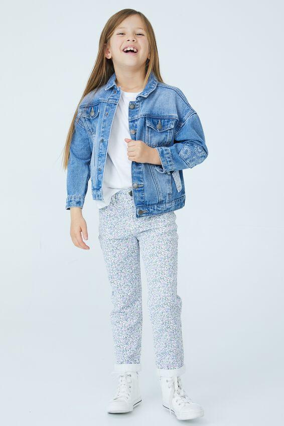 Emmy Oversized Denim Jacket, WEEKEND WASH/PATCHES