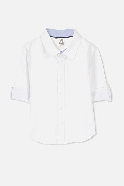 Noah Long Sleeve Shirt, NEW WHITE