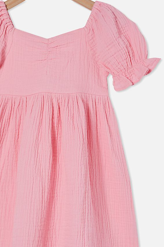 Samantha Short Sleeve Dress, CALI PINK