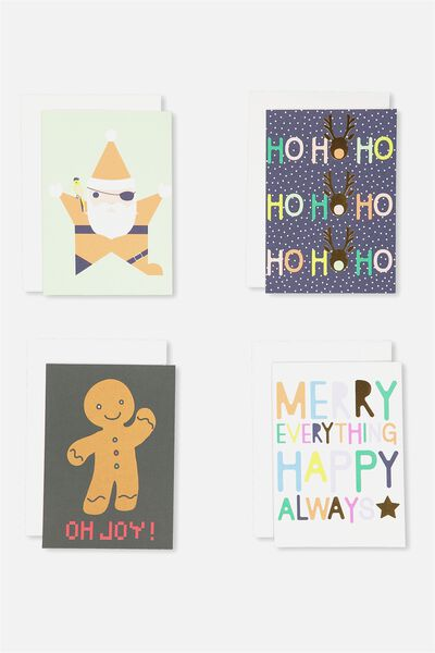 Christmas Card 12Pk With Envelope1, CHRISTMAS WORDS