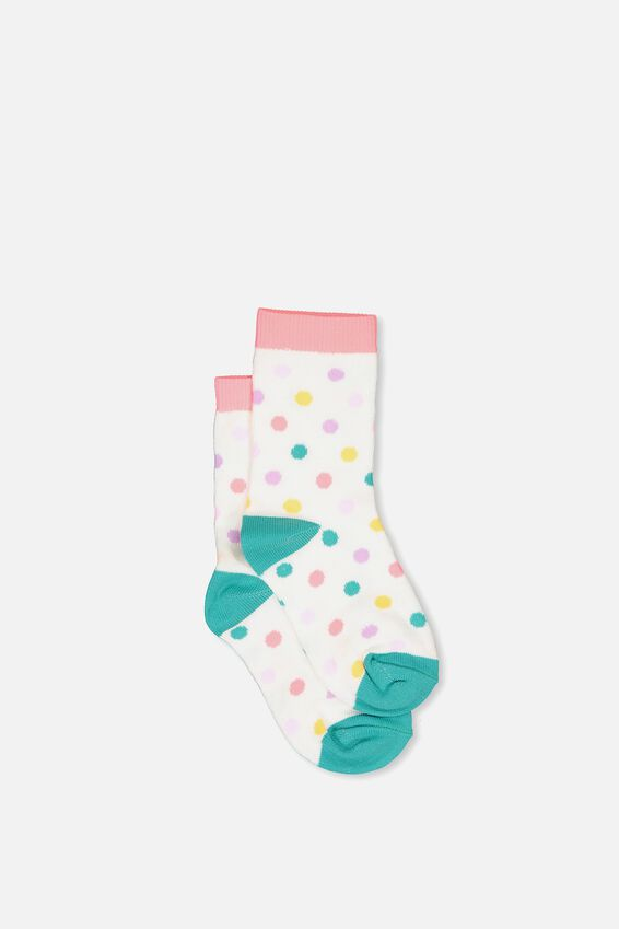 Fashion Kooky Socks, STRAWBERRY POP SPOTS
