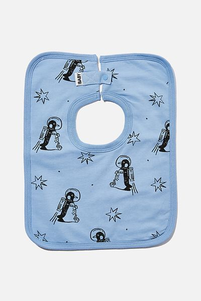 The Everyday Bib, POWDER PUFF BLUE/PENGUIN ASTRONAUT