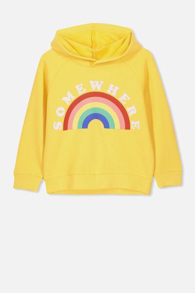 523ff1555 Scarlett Hoodie, DUNGAREE YELLOW/SOMEWHERE/DROP. Cotton On Kids