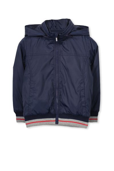 Seb Spray Jacket, PEACOAT BLUE