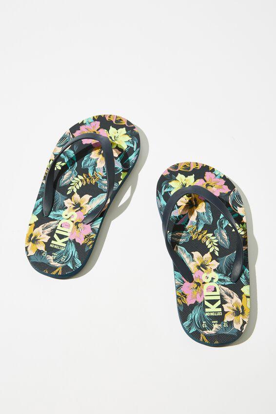 Printed Flip Flop, TROPICAL FLORAL