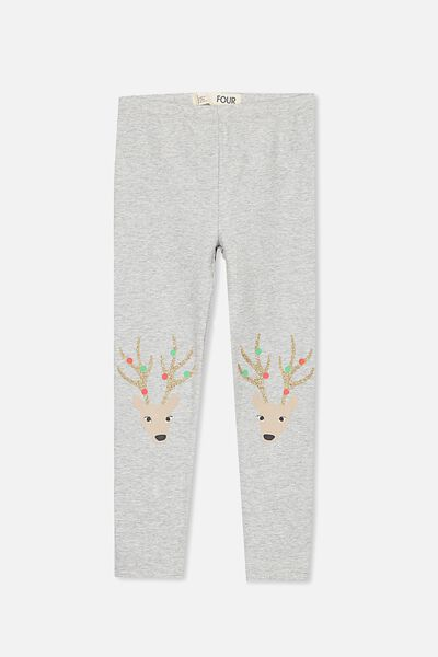 Huggie Tights, LIGHT GREY MARLE/PARTY DEER