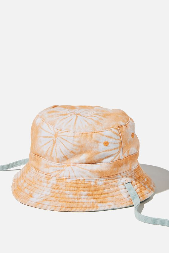 Reversible Bucket Hat, SPEARMINT TIE DYE