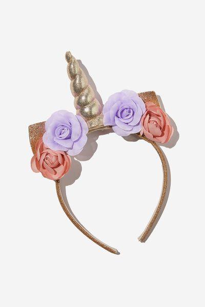Unicorn Headband, GOLDY PINK