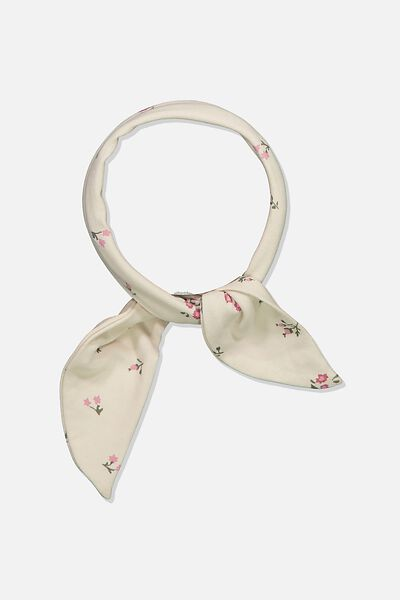 The Tie Headband, DARK VANILLA/FLORAL FIELD