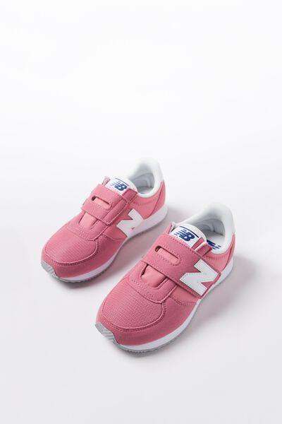220 Infants Self Fastening New Balance 5F10, KV220CPI PINK WHITE
