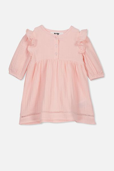 Aurora Ls Dress, CRYSTAL PINK