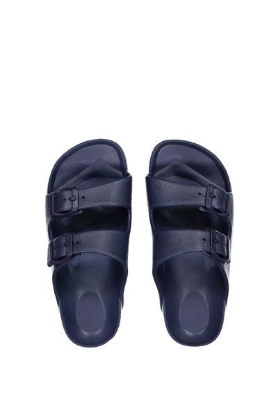 Twin Strap Slide, NAVY