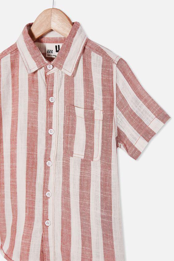 Resort Short Sleeve Shirt, CANDY STRIPE/CHUTNEY
