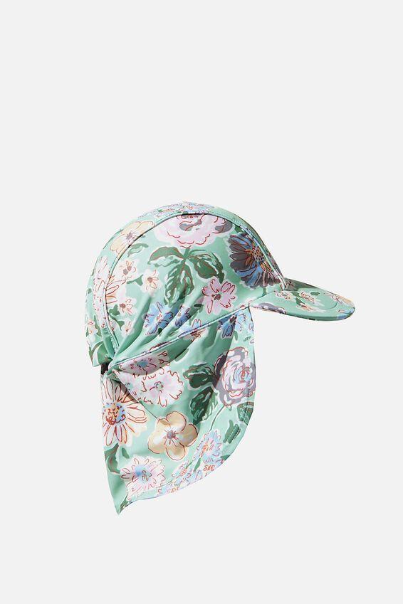 Sammy Swim Hat, DUCK EGG/PAINTERLY FLORAL