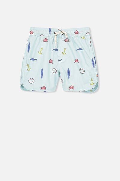 Murphy Swim Short, ICY AQUA/NAUTICAL