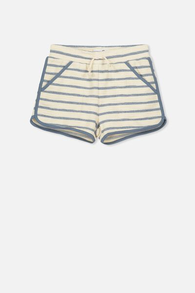 Nina Knit Short, CREAM/WASHED STEEL STRIPE