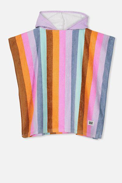 Kids Hooded Towel, RAINBOW STRIPE