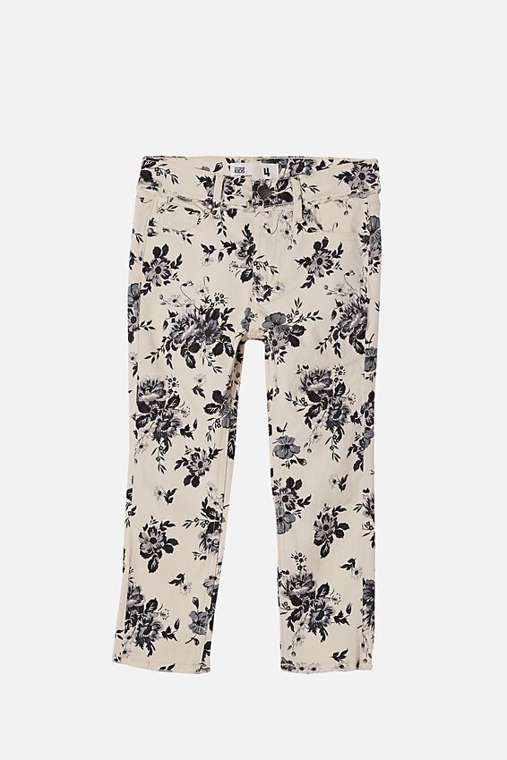 Samantha Slouch Jean, WHITE/VINTAGE FLORAL