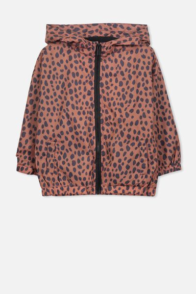 Whitney Spray Jacket, SUNBURN/LEOPARD