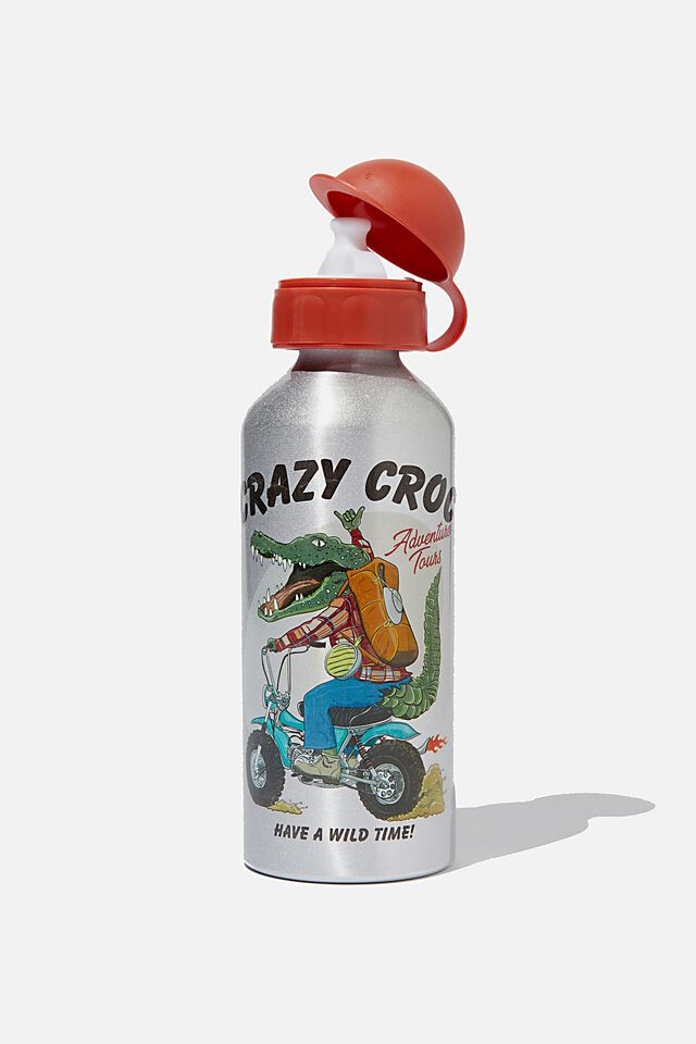 Aluminium Drink Bottle, CRAZY CROC