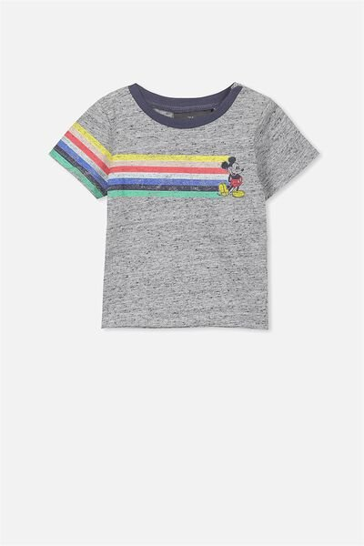 License Freddie Short Sleeve Tee, NEP GREY MARLE/MICKEY
