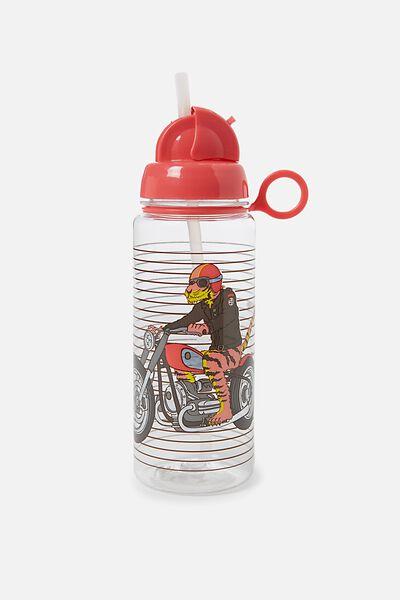 Spring Drink Bottle, RED TIGER MOTORBIKE