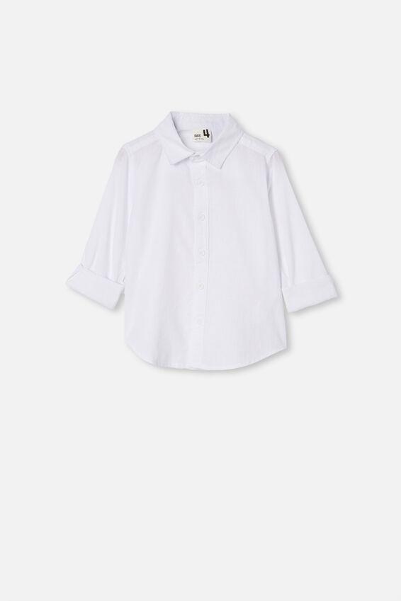 Harper Long Sleeve Shirt, WHITE