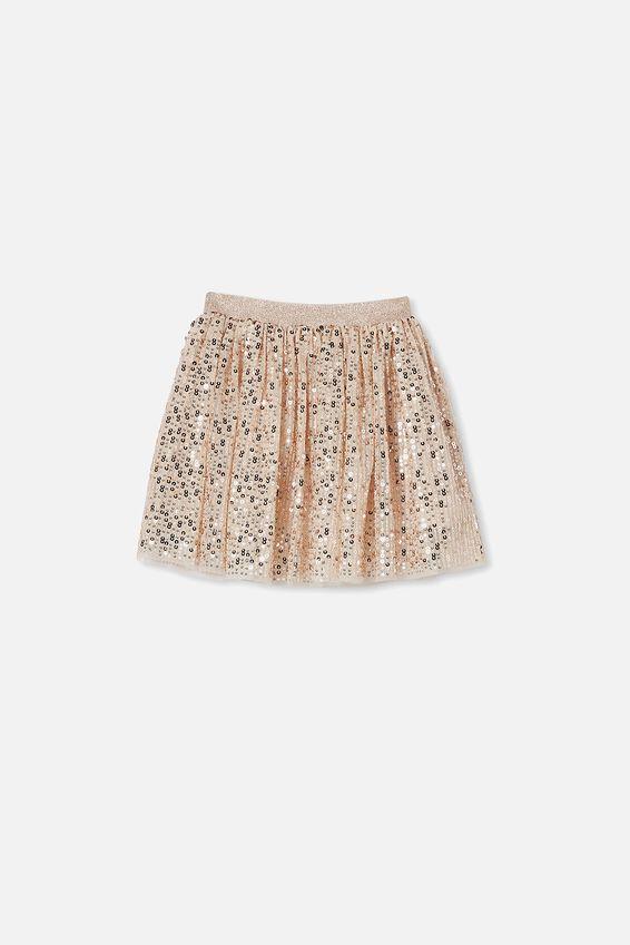 Trixiebelle Dress Up Skirt, GOLD SPARKLE