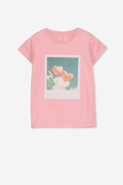 Penelope Short Sleeve Tee, PERRY PINK/HEART BALLOONS/SET IN