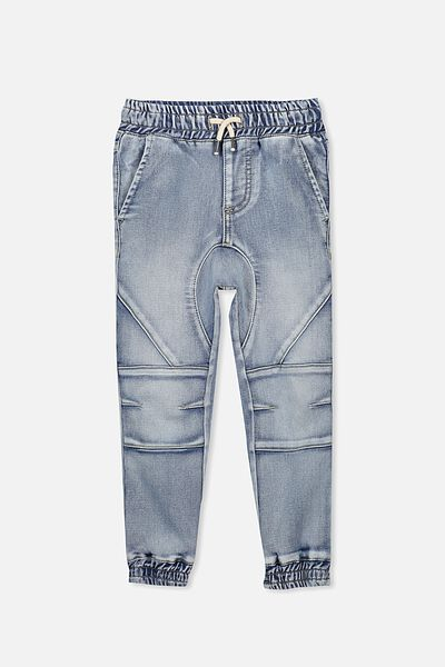 Bobby Denim Trackpant, WASHED ASH BLUE