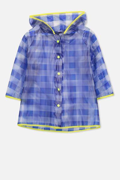 Cloudburst Raincoat, BLUE CHECK