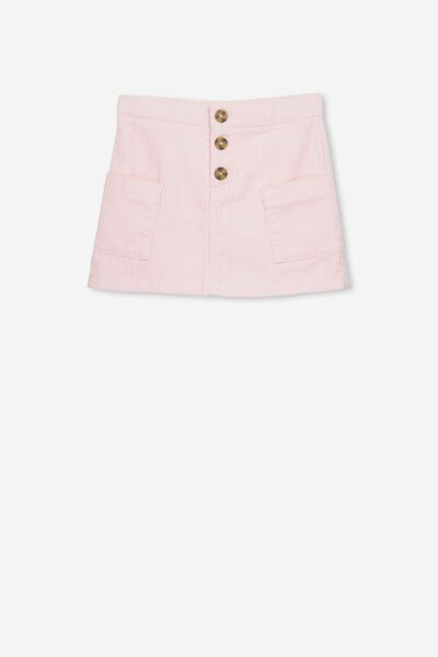 Rose Cord Skirt, PEARL PINK