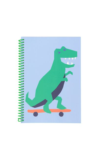A5 Everyday Lined Notebook, GREEN DINOSAUR